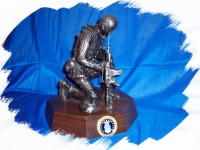 Small Kneeling Soldier Statue